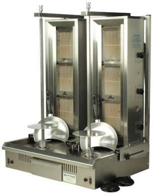 Doner Kebab Machine - 3 Burner Twin